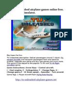 The Best Flight Simulator Games Online No Download