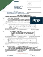 2013 Engleza Concursul Evaluare in Educatie Etapa II Clasa a Viiia Subiecte