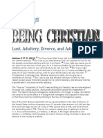 Christian Ethics Lect 15 Lust, Adultery, Divorce, and Adultery