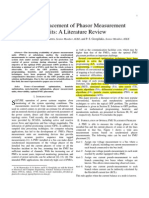 Optimal Placement of Phasor Measurement Units - A Literature Review