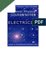 Electricity A level physics