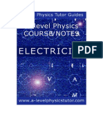 Electricity A level physics