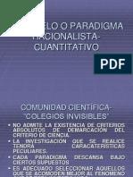 4. El Modelo o Paradigma Racionalista-cuantitativo