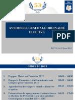 Rapport d Activites 2012