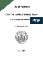 Portland City Manager's 2015 CIP budget