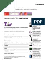 Como Instalar Tor No Kali Linux _ Hacks