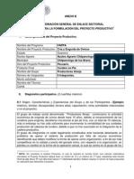 ANEXO B. Formulación Del Proyecto Productivo PROMETE