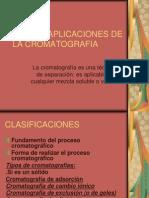 Tipos y Aplicaciones de La Cromatografia