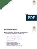 DIAPOSITIVAS NIIF7-Instrumentos Financieros Información a Revelar