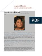 Sexual Violence Against Tamils 'Systematic', 'Part of Policy Framework' - Yasmin Sooka