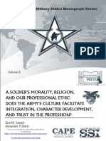 A Soldier's Morality, Religion, and Our Professional Ethic