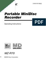 MZR70 Manual