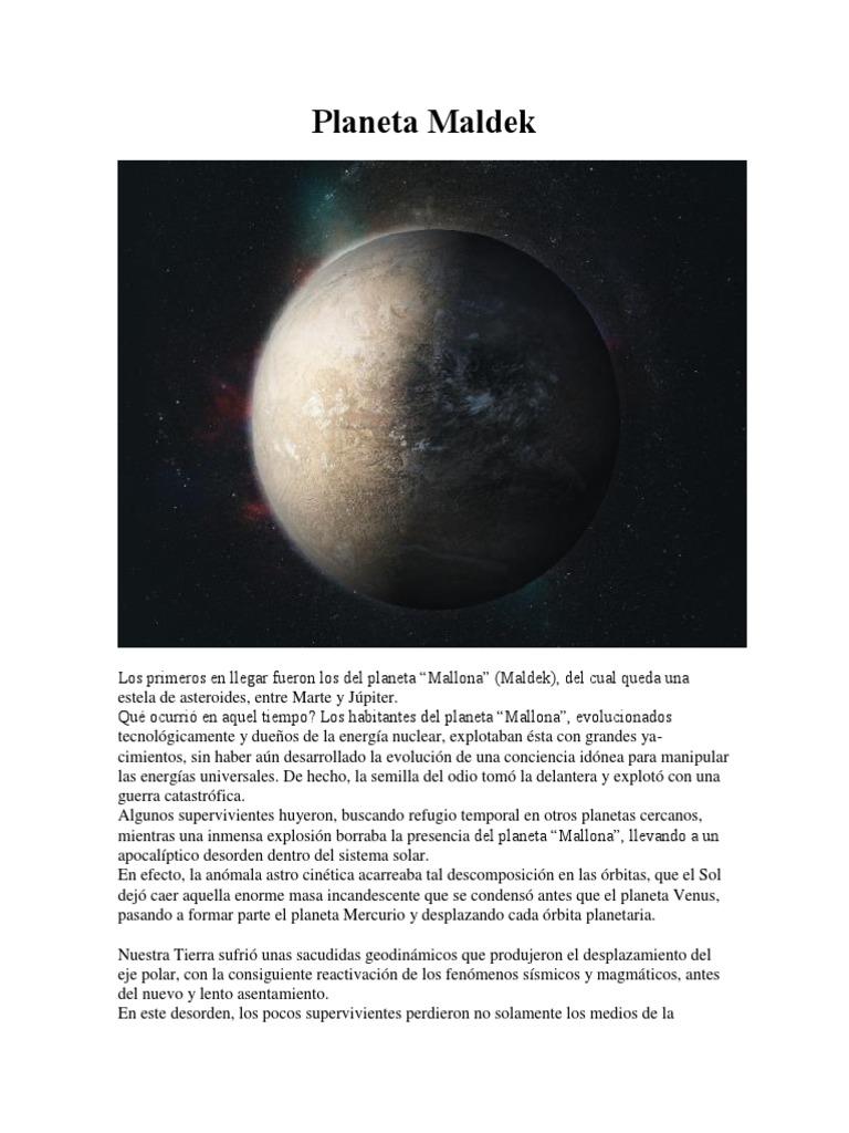 Planeta Maldek | Sistema solar | Planetas