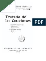 Somarriva Undurraga, Manuel - Tratado de Las Cauciones