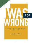 Andrew Sullivan - I Was Wrong