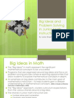 big ideas and problem solving in junior math