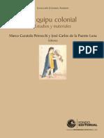 Estudios y Materiales Sobre El Uso de Los Quipus-libre