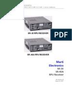SR 30 SR 40A RPU Receiver Manual