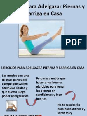 ejercicios para adelgazar muslos en el embarazo