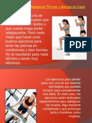 dieta para adelgazar muslos y barriga
