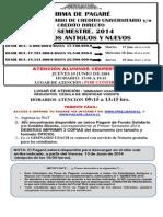 Proceso Firma Pagarés F. Solidario Créd. Dir. 1ro Sem. 2014