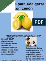 Recetas Para Adelgazar Con Limón