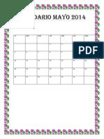 Calendario Mayo 2011 Ordoñez de Yeni Elizabeth