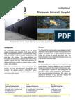 SolarWall Case Study - Sherbrooke University Hospital (solar air heating system)