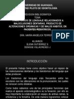 Diapositivas de Exposición Ortodoncia