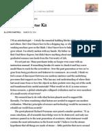 Civilization's Starter Kit NYT Op Ed Article