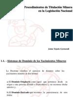 ProcedimientosdeTitulaciónMineraenlaLegislaciònNacional Dr[1].JaimeTejadaGurmendi