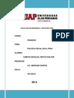 Política Fiscal en El Perú