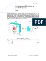 Two Dimensional Problems in Cartesian Coordinate System and Polar System