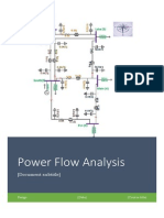 Power Flow Analysis for a grid connected system