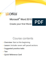 Training Presentation - Create Your First Word Document I