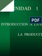 Gestión de la Producción I - Unidad 1