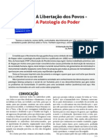 Convocação Libertação Dos Povos Da Patologia Do Poder