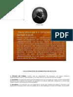 Los 14 Principios de Administración de Fayol y Def Comision x Cobrar e Isr Trimestral