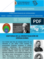 1. Investigacion de Operaciones - Historia