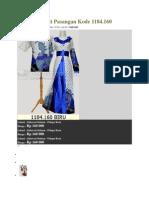 Batik Sarimbit Pasangan Kode 1184