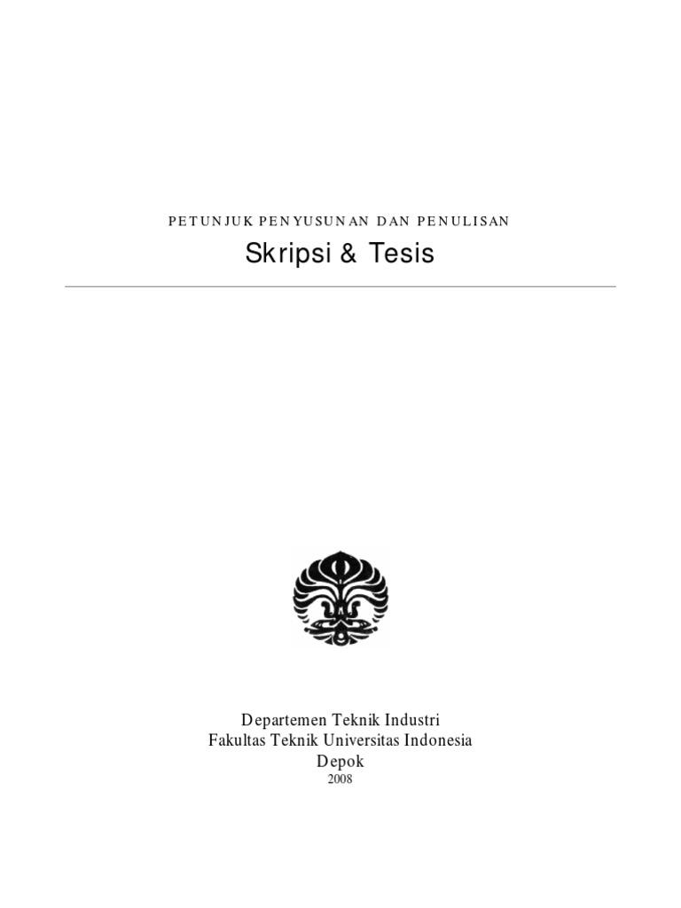 Contoh Tesis Teknik Industri Contoh Soal Dan Materi Pelajaran 2