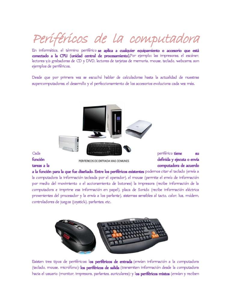 Periféricos de La Computadora | Periférico | Monitor de computadora