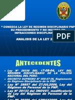Exposicion Ley 29356 Tridinac Pnp