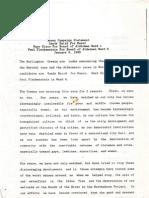 Green Campaign Statement - Jan 8, 1989