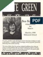Vote Green - Bea Bookchin