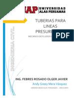 Tuberias Para Lineas Presurizadas