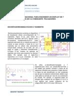 Circuito Combinacional Para Encender Un Display de 7 Segmentos de 0 a 9 Mediante Pulsadores