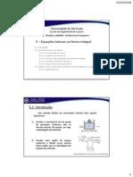 20140505 - Fenômenos de Transporte I - 5 Equações Basicas Na Forma Integral Para Volume de Controle