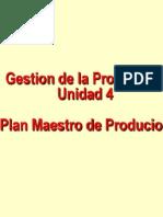 Gestión de la Producción I - Unidad 4