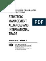 Strategic Management, Alliances and International Trade